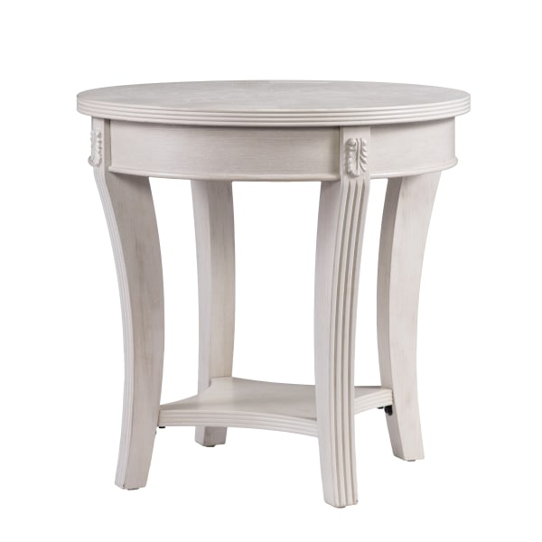 White Wash End Table