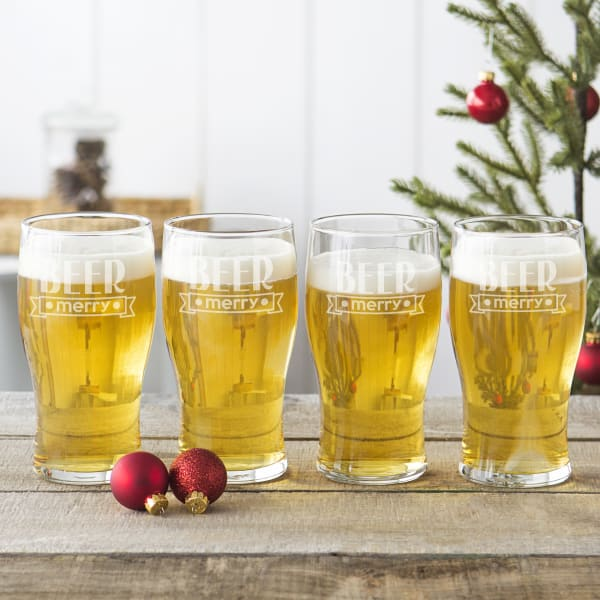Beer Merry Pilsner Glasses