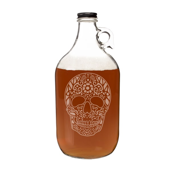 Cathy's Concepts Sugar Skull Craft Beer Growler