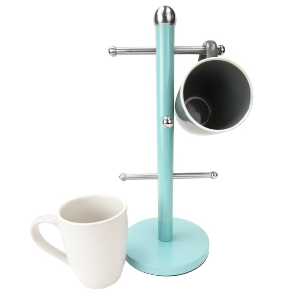 Turquoise Collection 6 Cup Mug Tree Holder