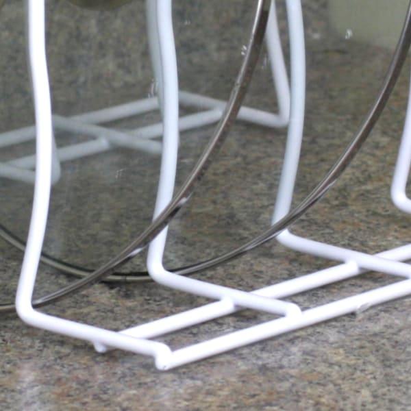 White Steel Lid Rack