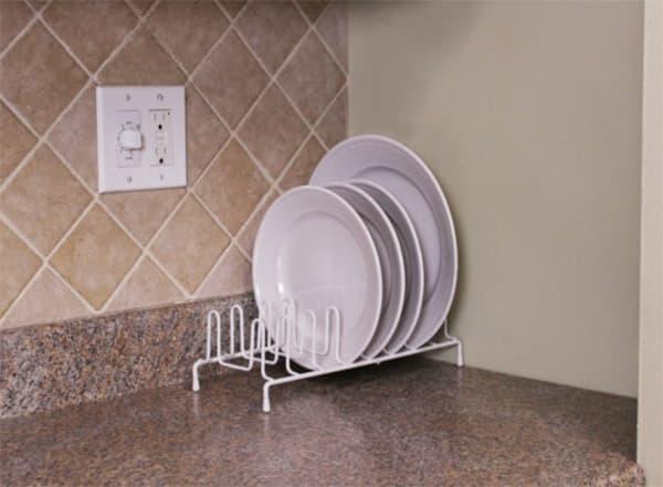 White Vinyl Coated Steel Plate Rack