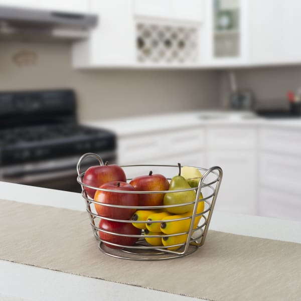 Simplicity Collection Satin Nickel Fruit Basket