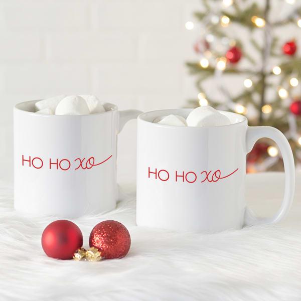 Ho Ho Xo 20 oz. Coffee Mug Set