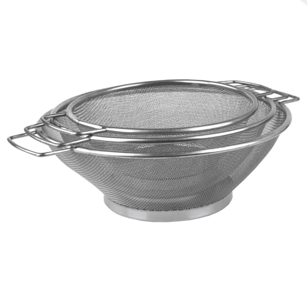 Stainless Steel Mesh Strainers, Set of 3