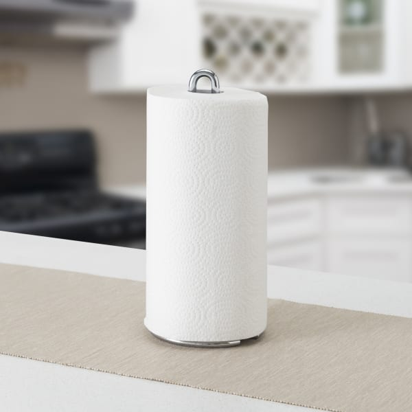 Simplicity Collection Chrome Free-Standing Paper Towel Holder