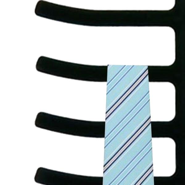 6 Tier Non-Slip Black Velvet Tie Hanger