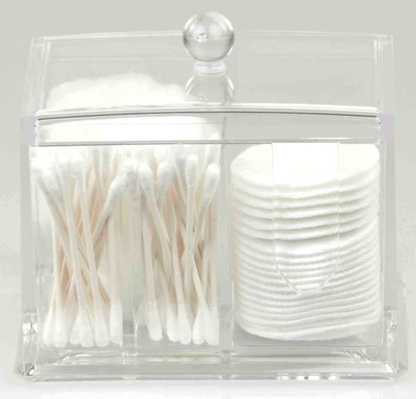 2 Compartment Clear Cosmetic Organizer