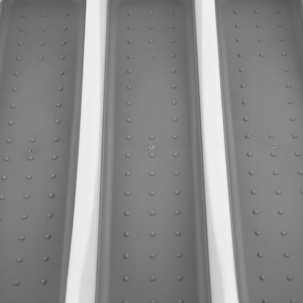 Large White Cutlery Tray with Rubber Lined Compartments