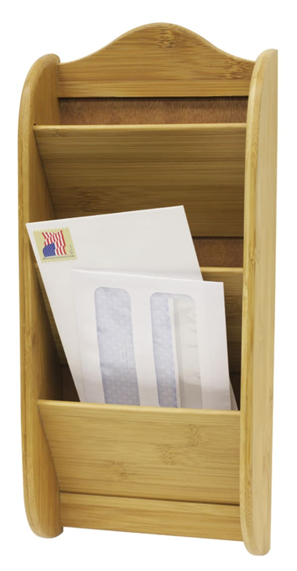 3-Tier Bamboo Letter Rack