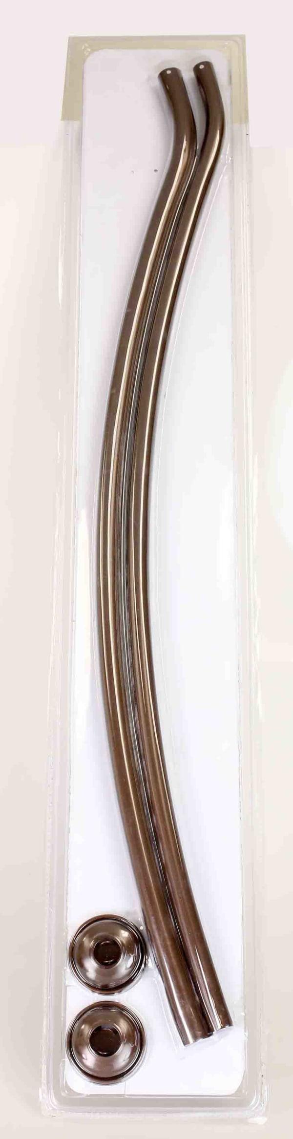 Bronze Steel Curved Shower Rod