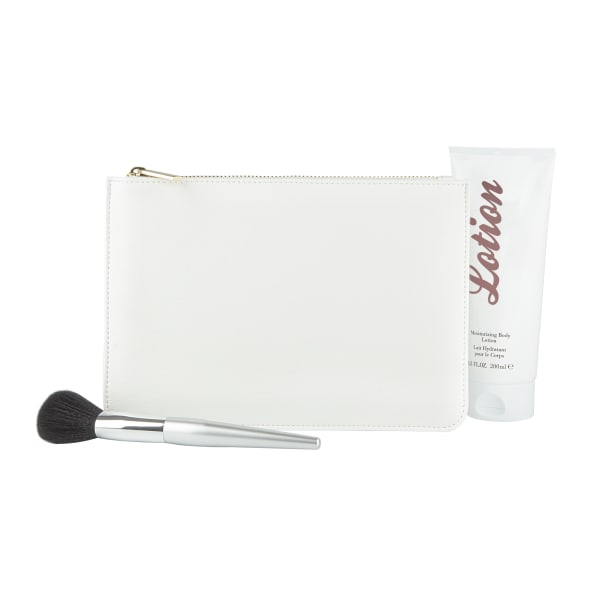 Cathy's Concepts White Vegan Leather Clutch