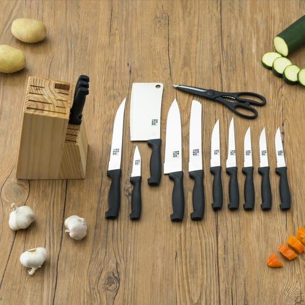 Knife Set with Block, 15 Piece Set