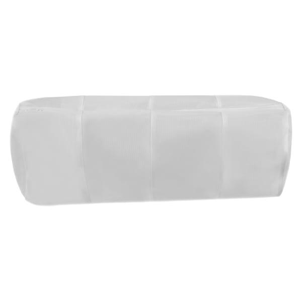 4 Compartment White Micro Mesh Wash Bag