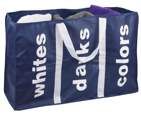 Navy 3 Section Laundry Bag