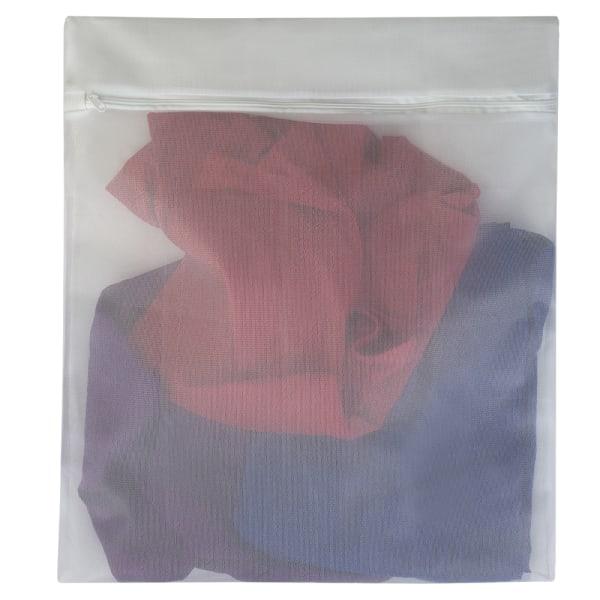 White Micro Mesh Wash Bag, Set of 3