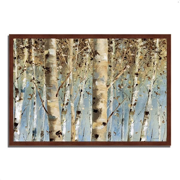 Framed Painting Print 38 In. x 26 In. White Forest I by Lisa Audit Multi Color