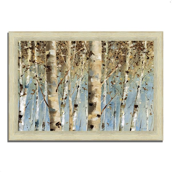 Framed Painting Print 42 In. x 30 In. White Forest I by Lisa Audit Multi Color