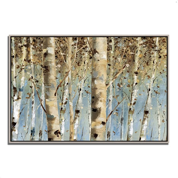Fine Art Giclee Print on Gallery Wrap Canvas 32 In. x 22 In. White Forest I by Lisa Audit Multi Color