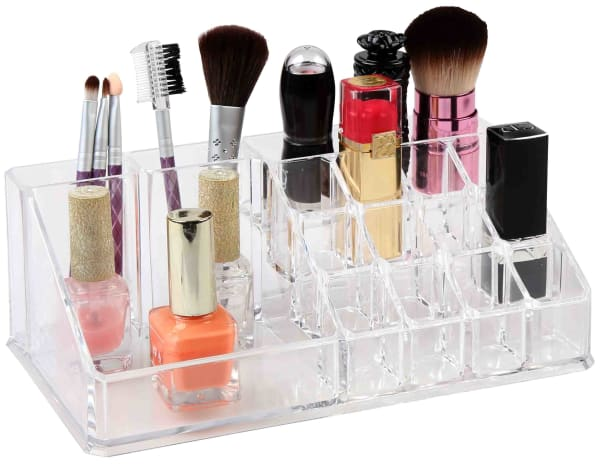 16 Compartment Clear Cosmetic Organizer