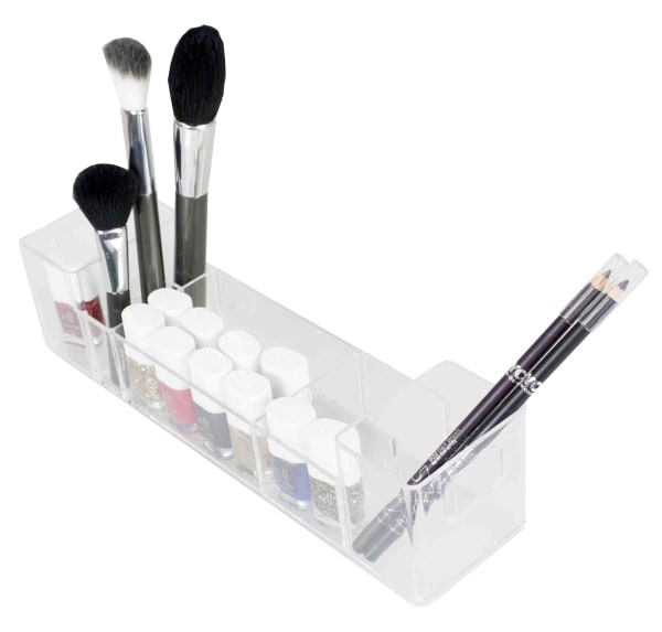 10 Compartment Clear Cosmetic Organizer