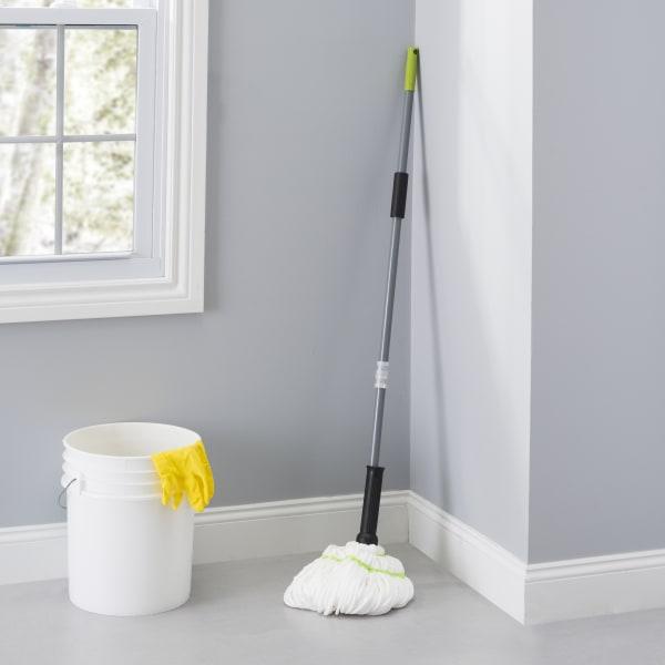 Brilliant Collection Grey/Lime Microfiber Twist Mop