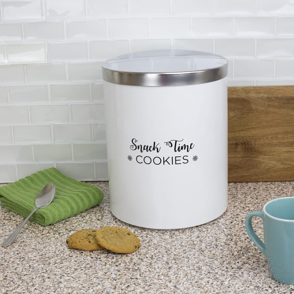Cuisine Collection Large Canister with Brushed Stainless Steel Top