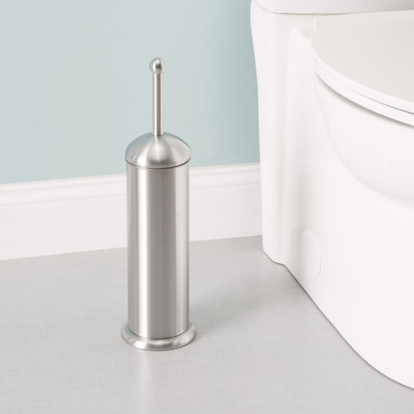 Stainless Steel Toilet Brush and Holder, 2 Piece Set