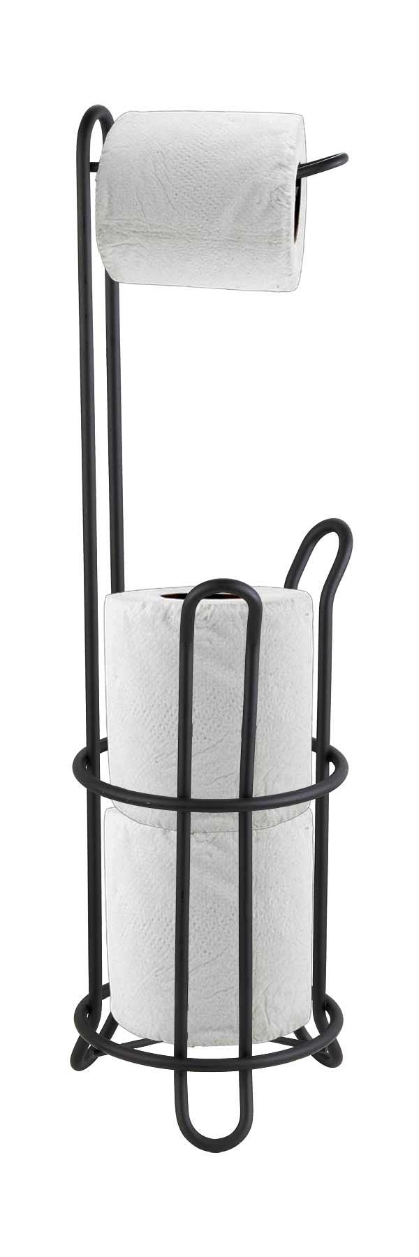 Black Free-Standing Toilet Paper Dispenser/Holder