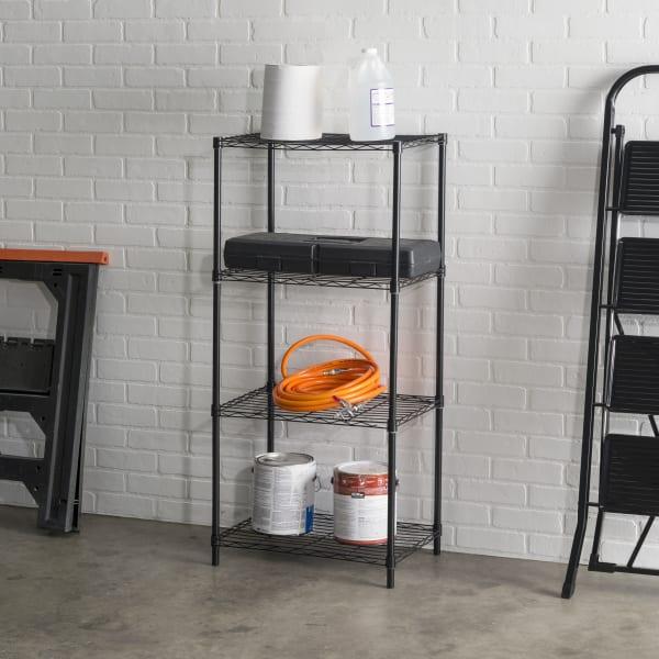 4 Tier Black Wire Shelf
