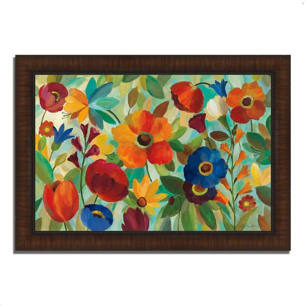 Framed Painting Print 36 In. x 26 In. Summer Floral V by Silvia Vassileva Multi Color