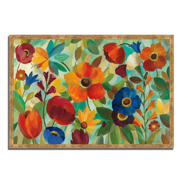 Framed Painting Print 32 In. x 22 In. Summer Floral V by Silvia Vassileva Multi Color