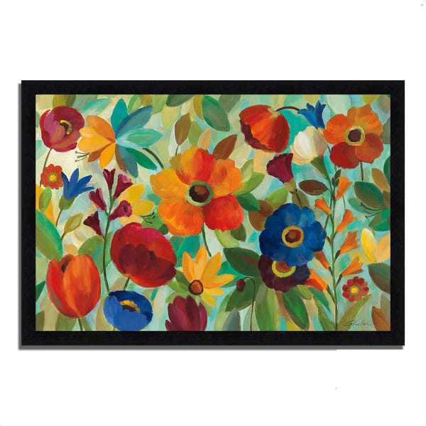 Framed Painting Print 39 In. x 27 In. Summer Floral V by Silvia Vassileva Multi Color