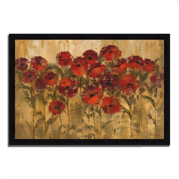 Framed Painting Print 39 In. x 27 In. Sunshine Florals by Silvia Vassileva Multi Color