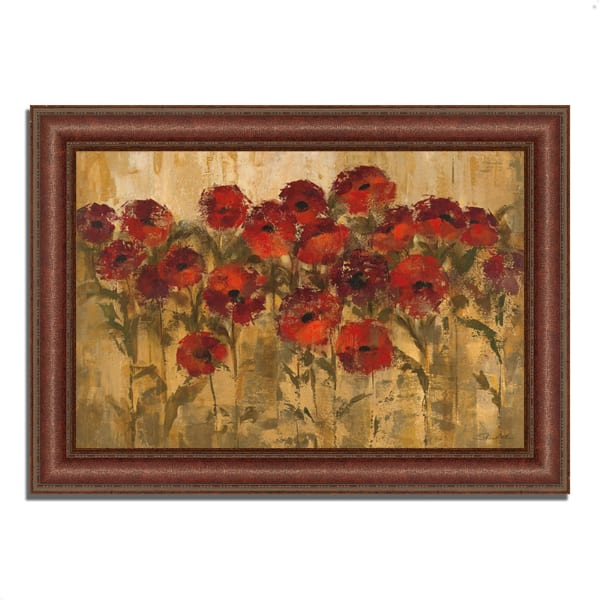 Framed Painting Print 52 In. x 37 In. Sunshine Florals by Silvia Vassileva Multi Color