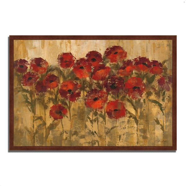 Framed Painting Print 38 In. x 26 In. Sunshine Florals by Silvia Vassileva Multi Color