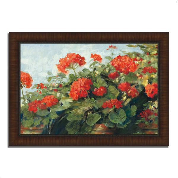Framed Painting Print 36 In. x 26 In. Geranium Wave by Carol Rowan Multi Color