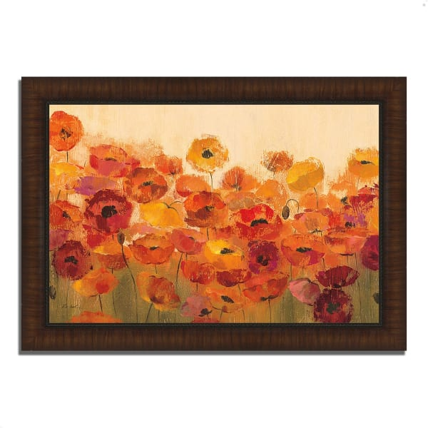 Framed Painting Print 51 In. x 36 In. Summer Poppies by Silvia Vassileva Multi Color