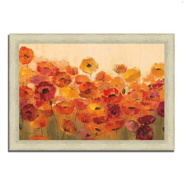 Framed Painting Print 36 In. x 26 In. Summer Poppies by Silvia Vassileva Multi Color