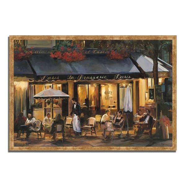 Framed Painting Print 32 In. x 22 In. La Brasserie by Marilyn Hageman Multi Color