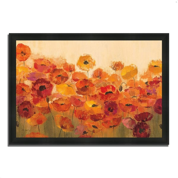 Framed Painting Print 46 In. x 33 In. Summer Poppies by Silvia Vassileva Multi Color