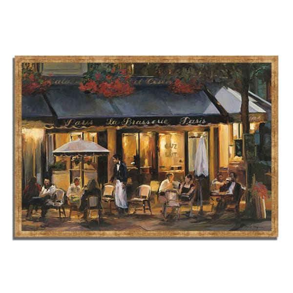 Framed Painting Print 38 In. x 26 In. La Brasserie by Marilyn Hageman Multi Color