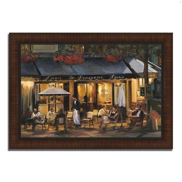 Framed Painting Print 51 In. x 36 In. La Brasserie by Marilyn Hageman Multi Color