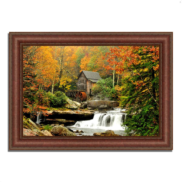 Framed Photograph Print 43 In. x 31 In. The Old Mill Multi Color