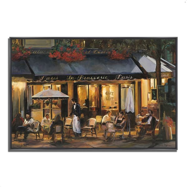 Fine Art Giclee Print on Gallery Wrap Canvas 38 In. x 26 In. La Brasserie by Marilyn Hageman Multi Color