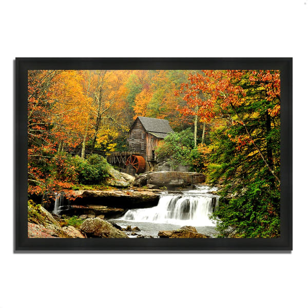 Framed Photograph Print 39 In. x 27 In. The Old Mill Multi Color