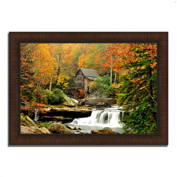 Framed Photograph Print 51 In. x 36 In. The Old Mill Multi Color