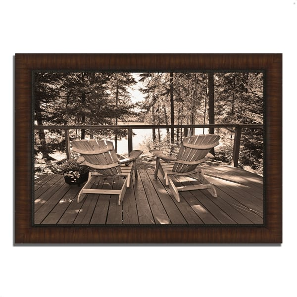 Framed Photograph Print 36 In. x 26 In. At The Lake Multi Color