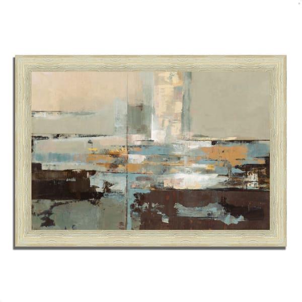 Framed Painting Print 51 In. x 36 In. Morning Haze by Silvia Vassileva Multi Color