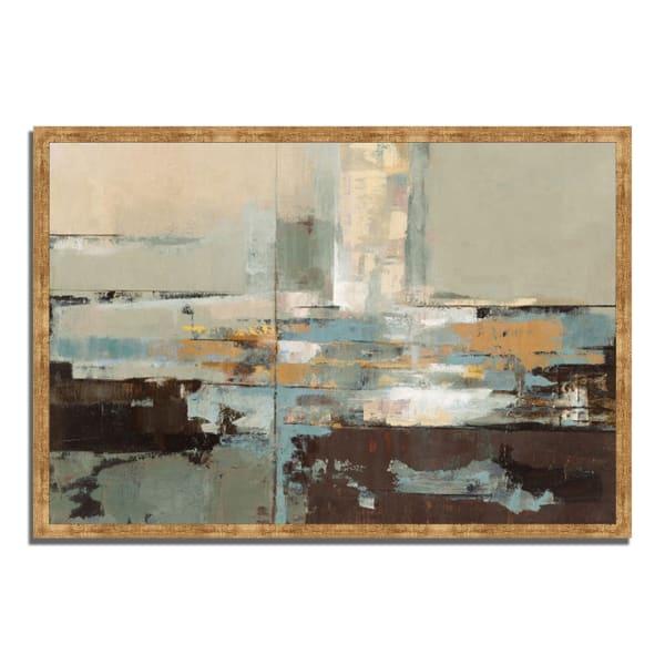 Framed Painting Print 59 In. x 40 In. Morning Haze by Silvia Vassileva Multi Color